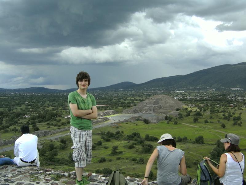 Martin à Téotihuacan, Mexique