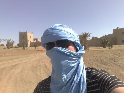 """Martin habillé en """"local"""" au Maroc"""